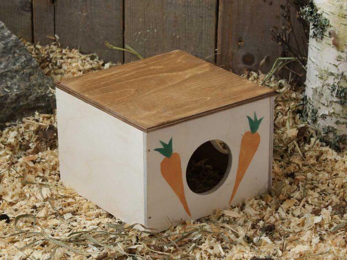 Hamsterin hauska pesälaatikko sopii myös hiirelle tai gerbiilille.