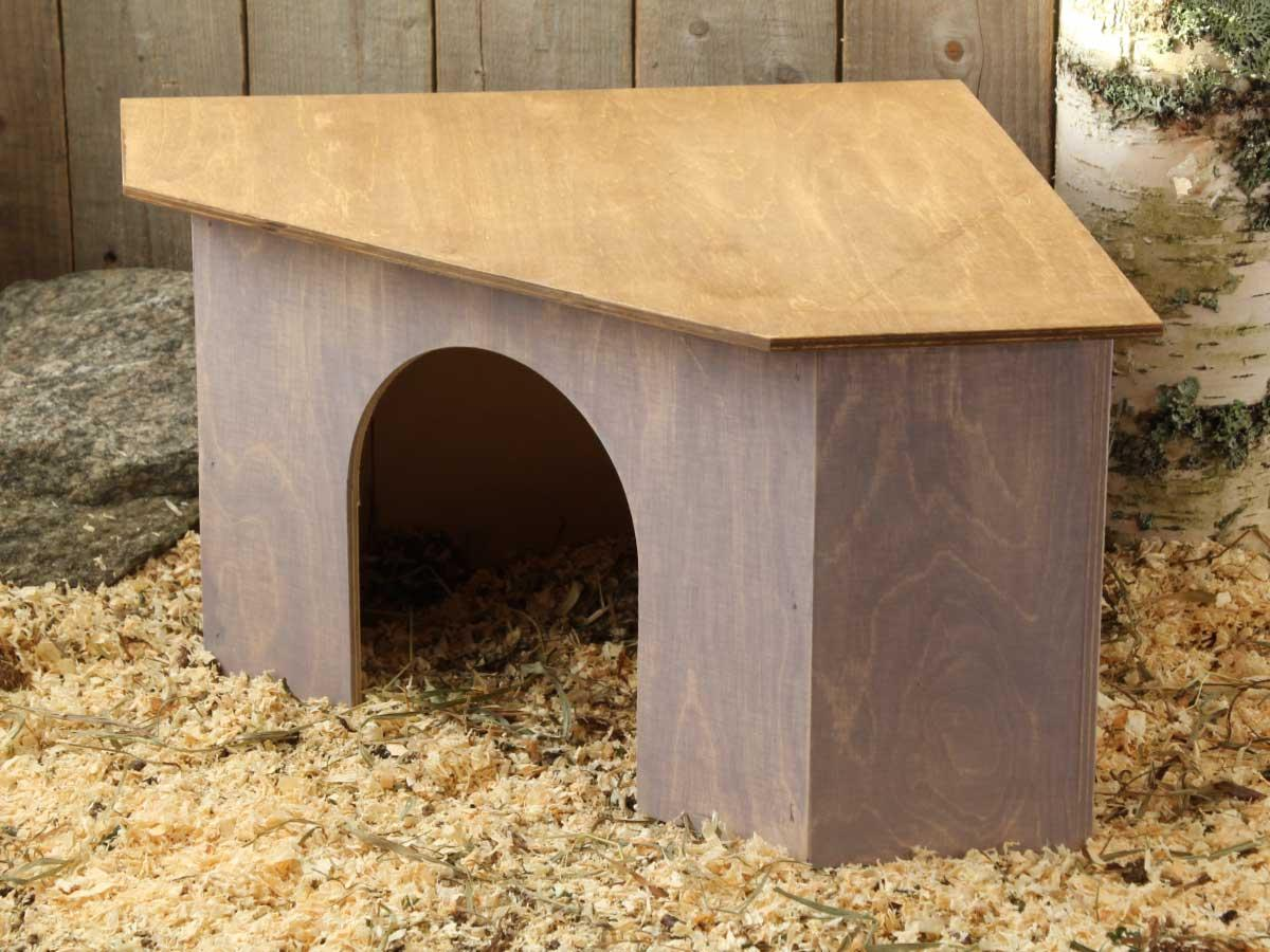 Kanin kulmamökki - häkin kulmaan sijoitettava kaunis pesämökki kanille.