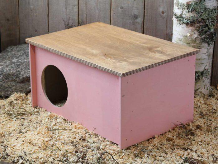 Pienen kanin pesämökki, avattava katto