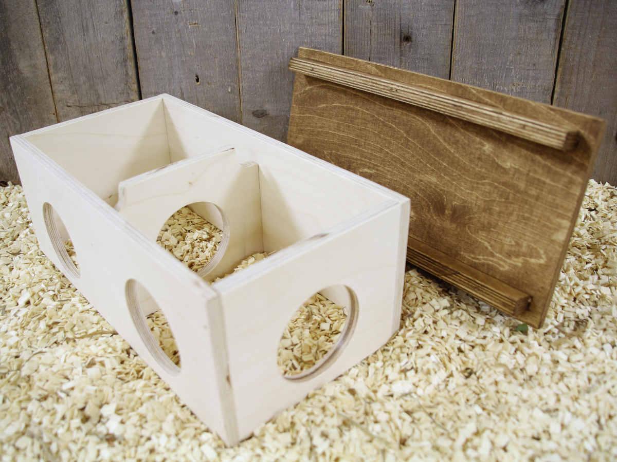 gergiilin ja hamsterin kaksiosainen mökki