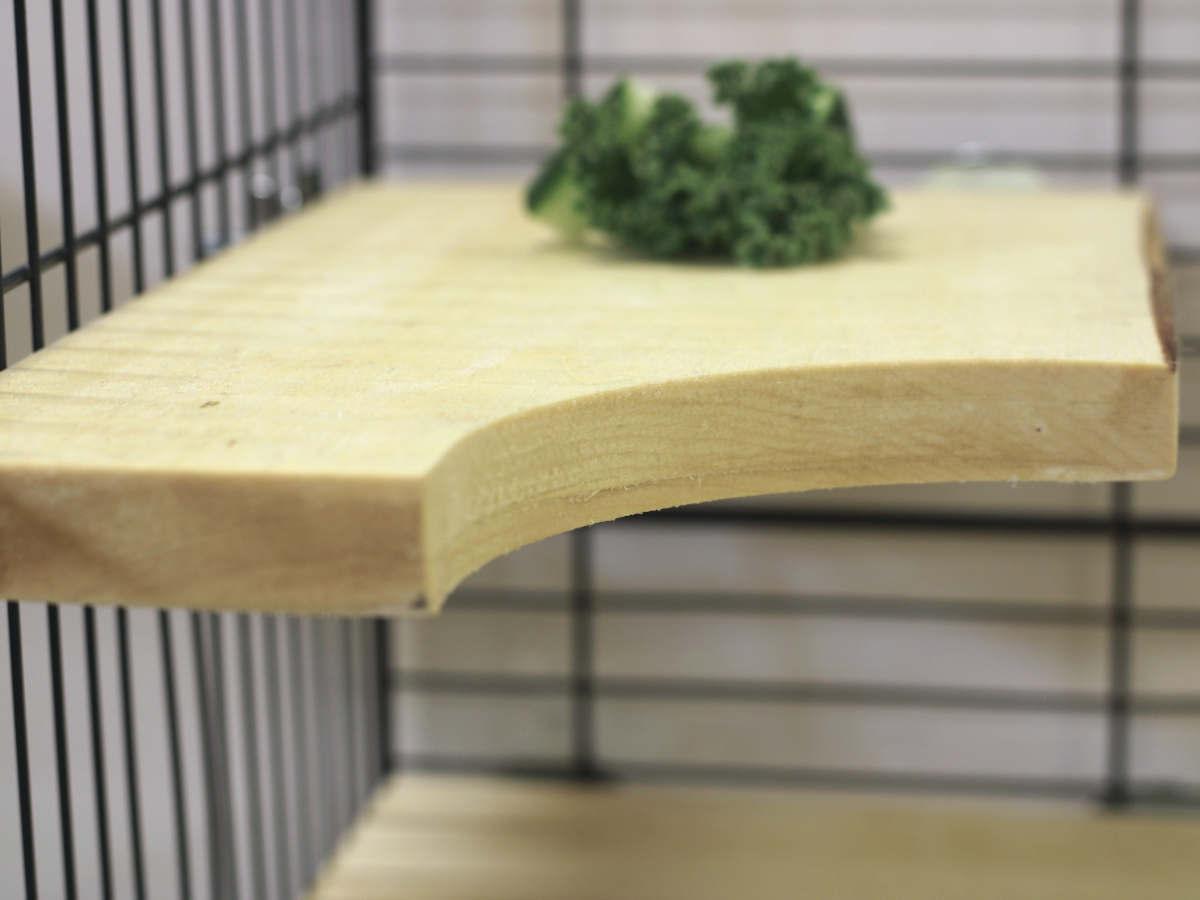 vahva puinen kiipeilytaso häkin pinnoihin